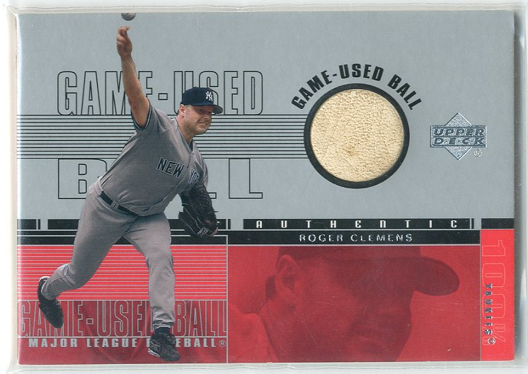 2001 Upper Deck Game Ball 2 #BRC Roger Clemens