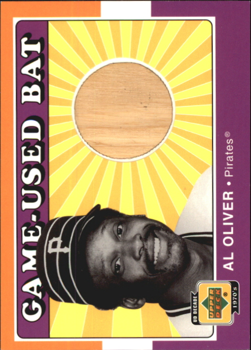 2001 Upper Deck Decade 1970's Game Bat #BAO Al Oliver
