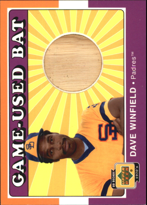 2001 Upper Deck Decade 1970's Game Bat #BDW Dave Winfield