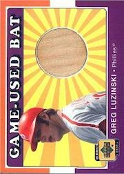 2001 Upper Deck Decade 1970's Game Bat #BGL Greg Luzinski