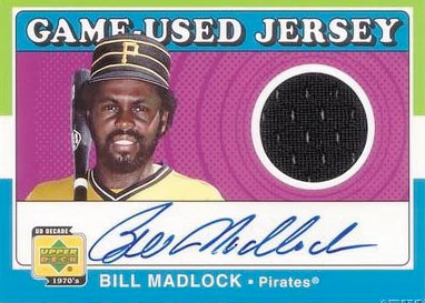 2001 Upper Deck Decade 1970's Game Jersey Autograph #SJBM Bill Madlock