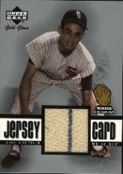 2001 Upper Deck Gold Glove Game Jersey #GGLA Luis Aparicio