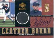 2001 Upper Deck Gold Glove Leather Bound Autograph #SLBI Ichiro Suzuki SP/50