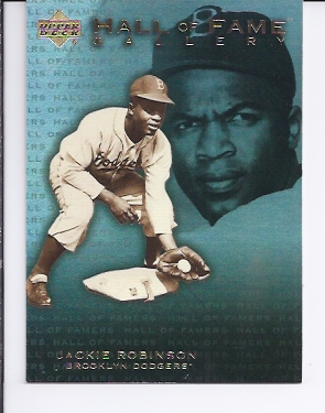 2001 Upper Deck Hall of Famers Gallery #G4 Jackie Robinson