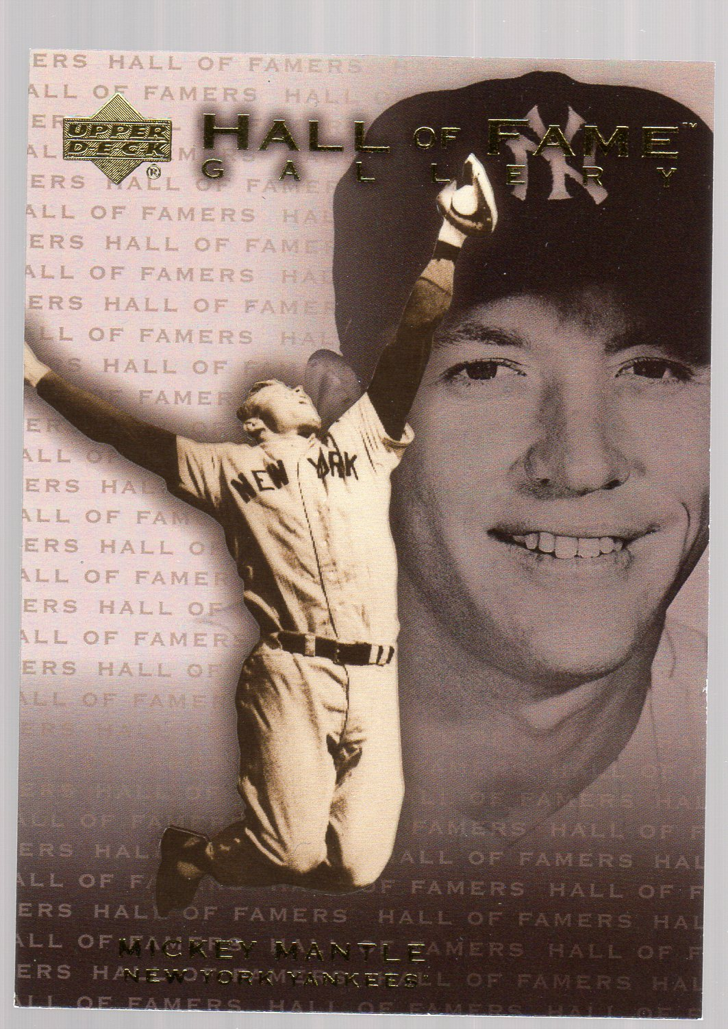 2001 Upper Deck Hall of Famers Gallery #G7 Mickey Mantle
