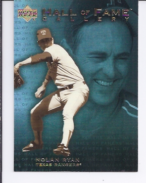 2001 Upper Deck Hall of Famers Gallery #G10 Nolan Ryan