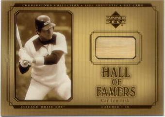 2001 Upper Deck Hall of Famers Game Bat #BCF Carlton Fisk DP