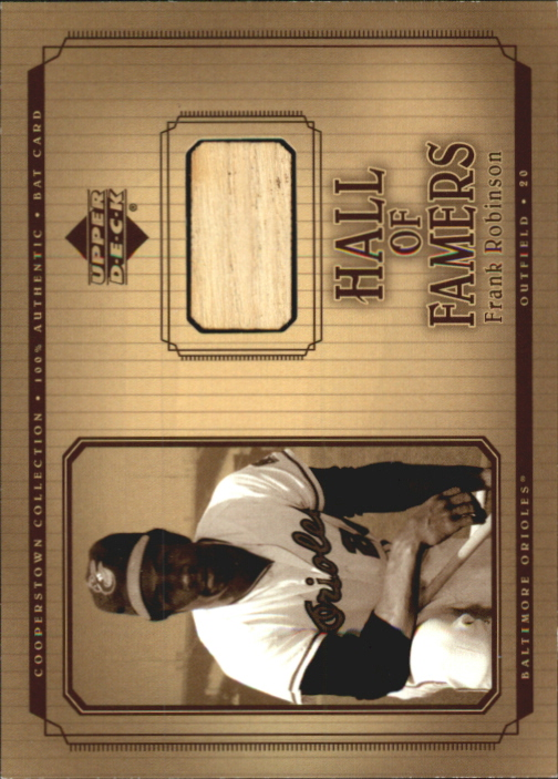 2001 Upper Deck Hall of Famers Game Bat #BFR Frank Robinson