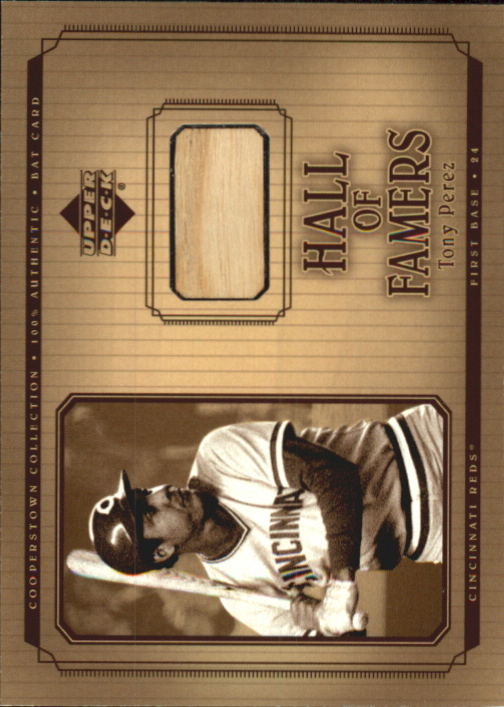 2001 Upper Deck Hall of Famers Game Bat #BTP Tony Perez