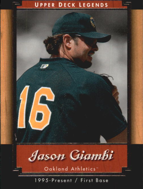 2001 Upper Deck Legends #6 Jason Giambi