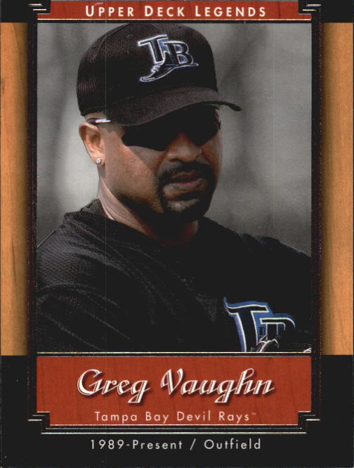 2001 Upper Deck Legends #11 Greg Vaughn