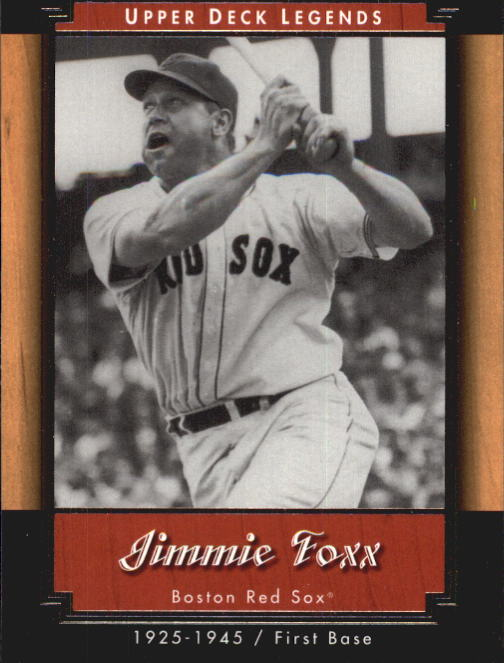 2001 Upper Deck Legends #23 Jimmie Foxx