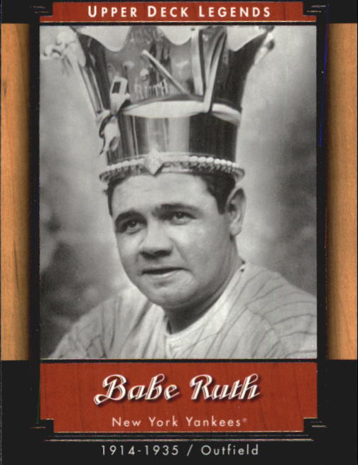 2001 Upper Deck Legends #42 Babe Ruth