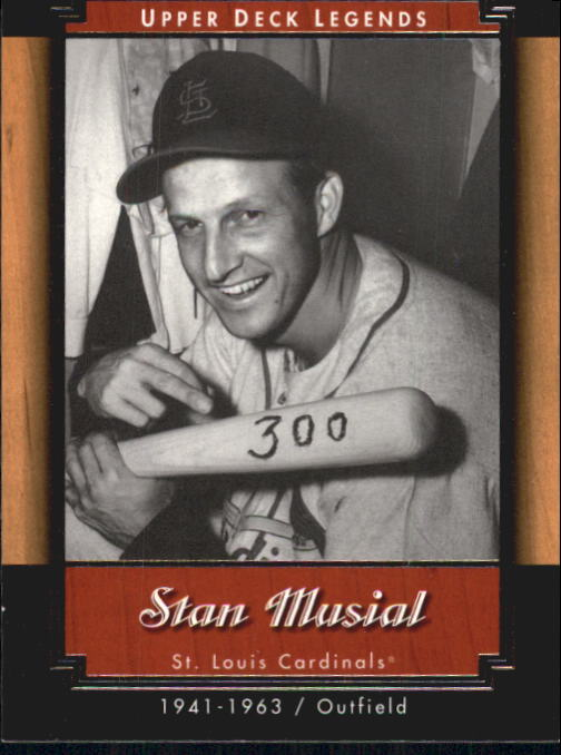 2001 Upper Deck Legends #56 Stan Musial front image
