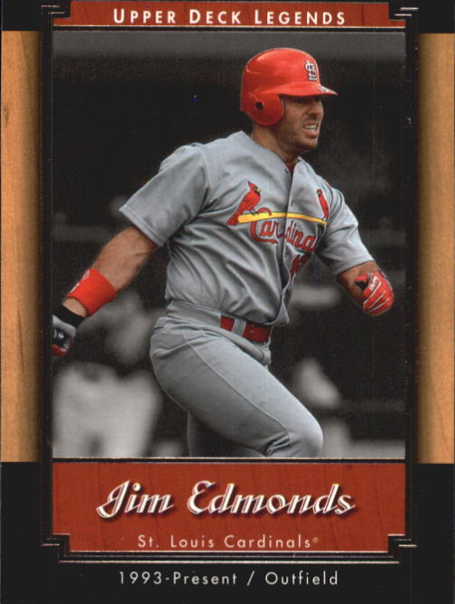 2001 Upper Deck Legends #58 Jim Edmonds