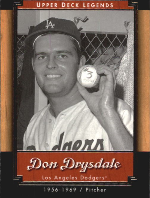 2001 Upper Deck Legends #64 Don Drysdale
