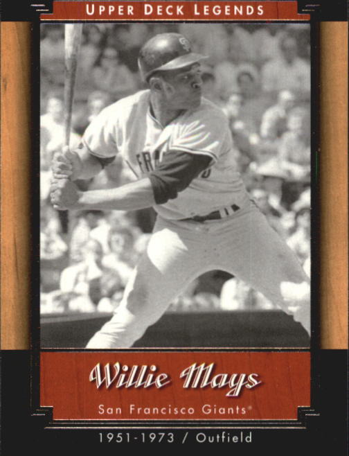 2001 Upper Deck Legends #69 Willie Mays front image