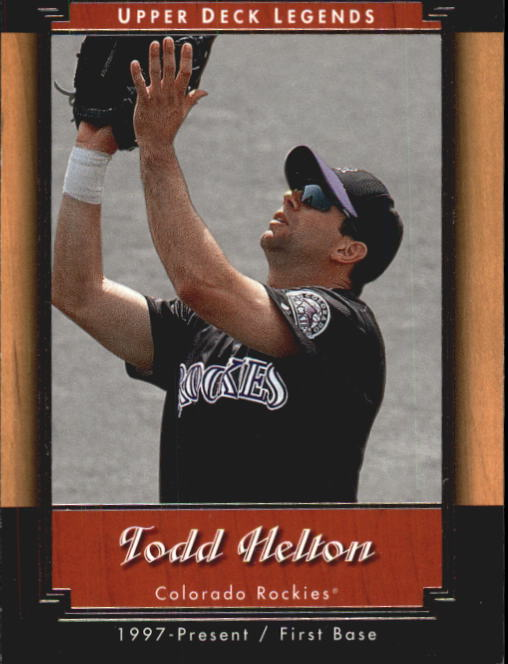 2001 Upper Deck Legends #88 Todd Helton