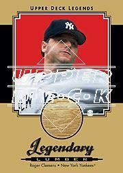2001 Upper Deck Legends Legendary Lumber Gold #GLRC Roger Clemens
