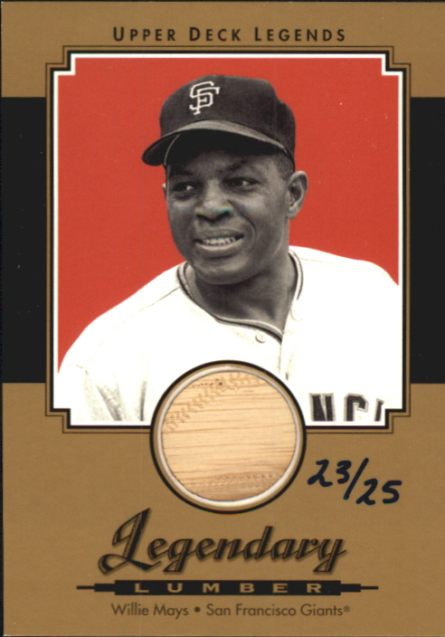 2001 Upper Deck Legends Legendary Lumber Gold #GLWM Willie Mays