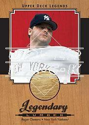 2001 Upper Deck Legends Legendary Lumber Autographs #SLRC Roger Clemens SP/227
