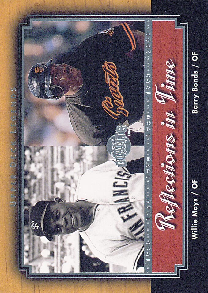 2001 Upper Deck Legends Reflections in Time #R3 B.Bonds/W.Mays