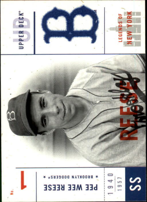 2001 Upper Deck Legends of NY #6 Pee Wee Reese