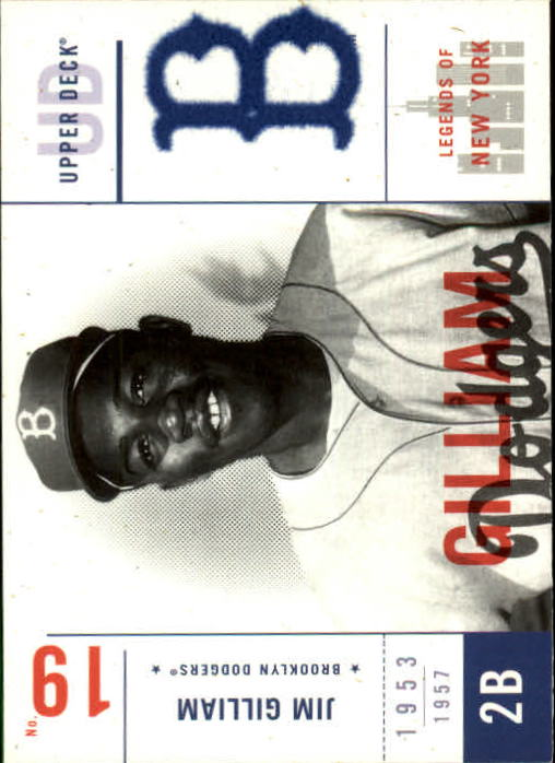 2001 Upper Deck Legends of NY #9 Jim Gilliam