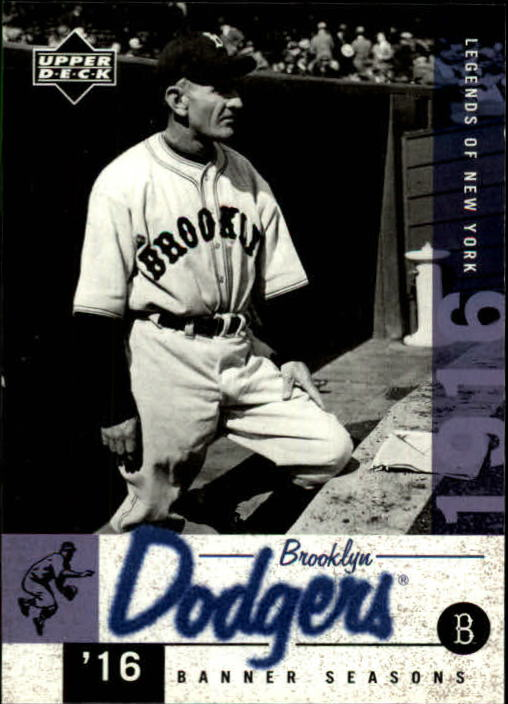 2001 Upper Deck Legends of NY #22 Casey Stengel BNS