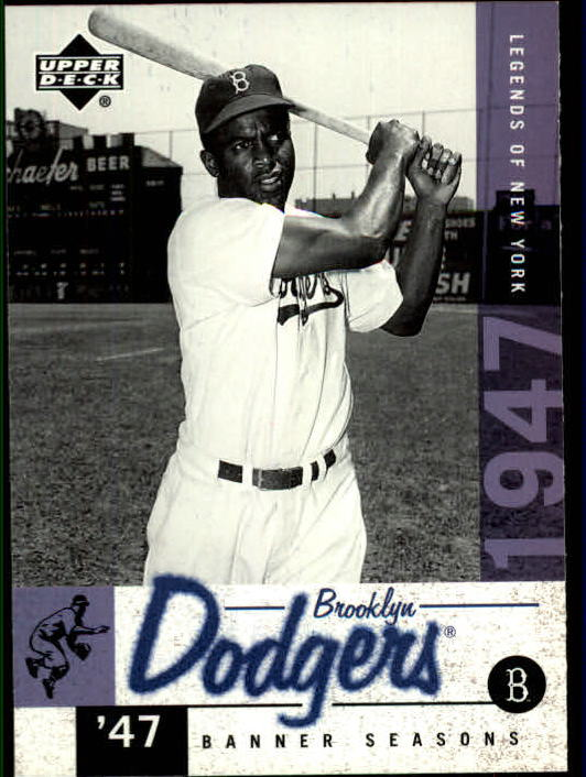 2001 Upper Deck Legends of NY #25 Jackie Robinson BNS