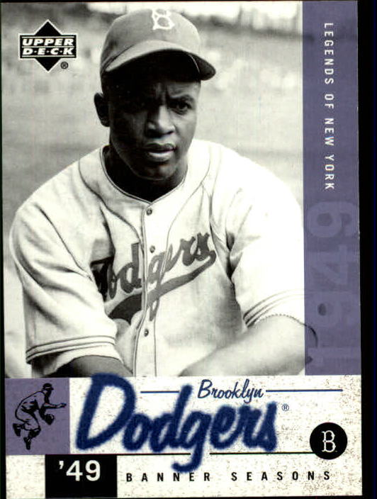 2001 Upper Deck Legends of NY #26 Jackie Robinson BNS