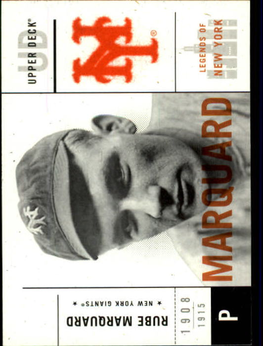 2001 Upper Deck Legends of NY #30 Rube Marquard