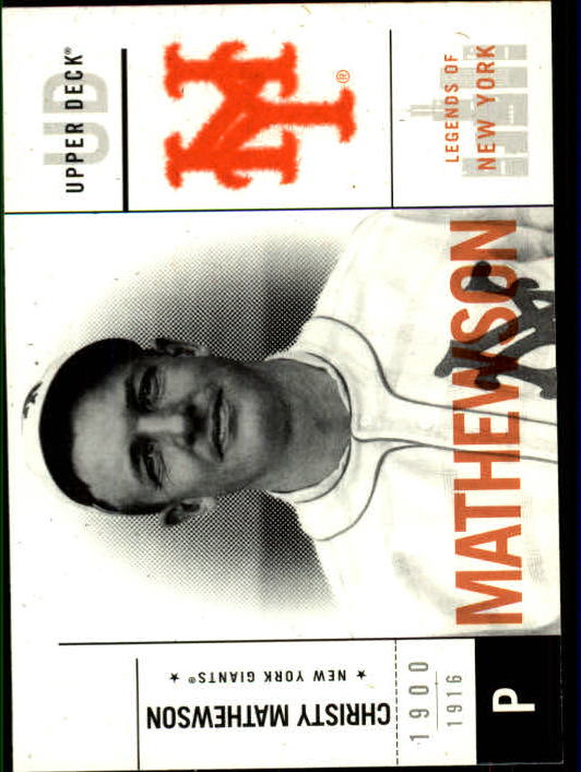 2001 Upper Deck Legends of NY #33 Christy Mathewson