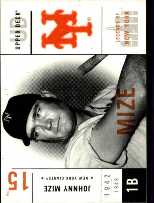 2001 Upper Deck Legends of NY #36 Johnny Mize