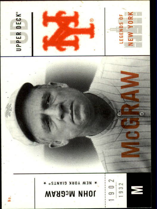 2001 Upper Deck Legends of NY #37 John McGraw