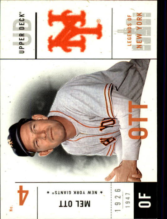 2001 Upper Deck Legends of NY #40 Mel Ott front image