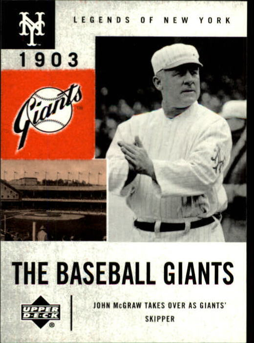 2001 Upper Deck Legends of NY #43 John McGraw BG