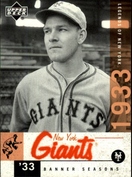 2001 Upper Deck Legends of NY #60 Mel Ott BNS