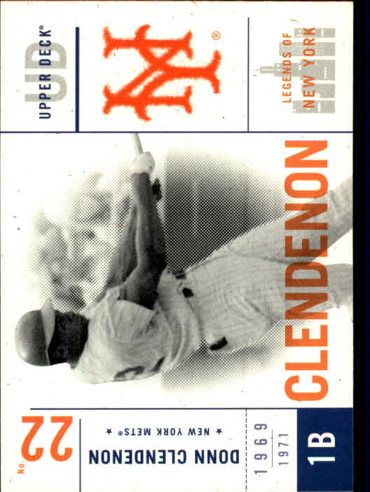 2001 Upper Deck Legends of NY #66 Donn Clendenon