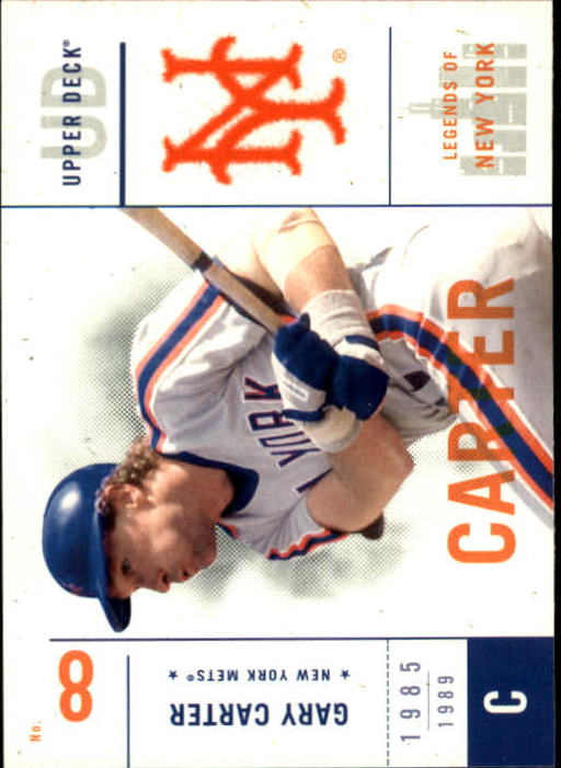 2001 Upper Deck Legends of NY #68 Gary Carter