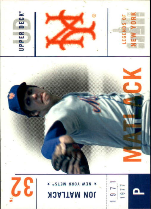 2001 Upper Deck Legends of NY #70 Jon Matlack