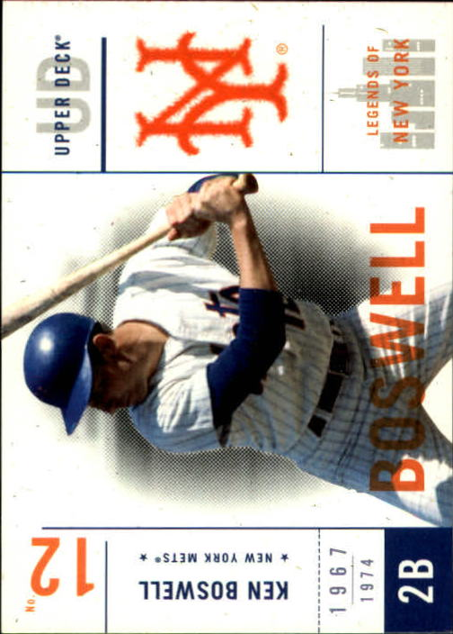 2001 Upper Deck Legends of NY #71 Ken Boswell