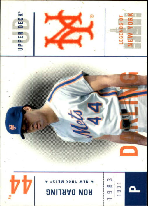 2001 Upper Deck Legends of NY #75 Ron Darling