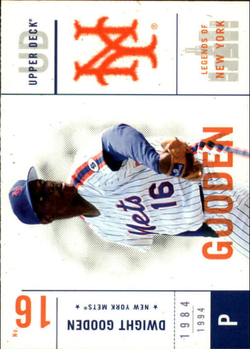 2001 Upper Deck Legends of NY #77 Dwight Gooden