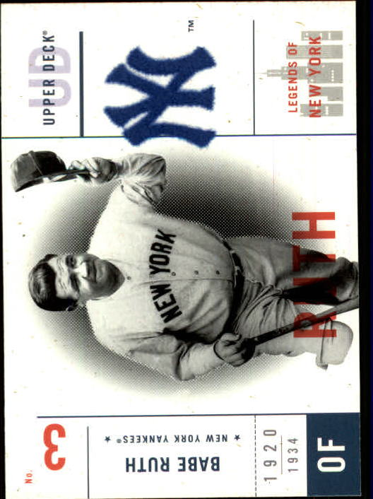 2001 Upper Deck Legends of NY #94 Babe Ruth