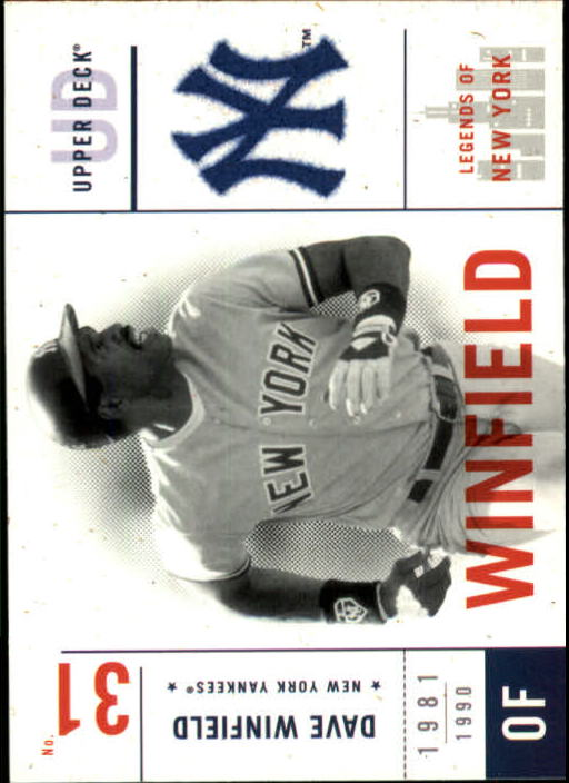 2001 Upper Deck Legends of NY #102 Dave Winfield
