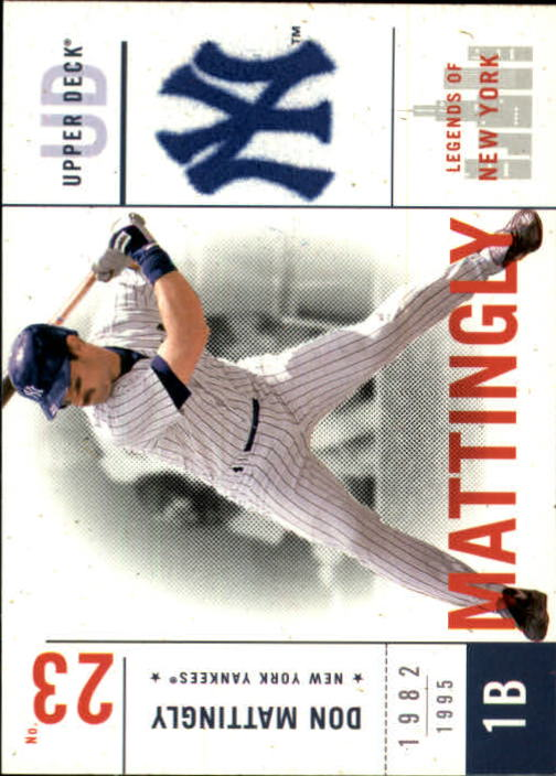 2001 Upper Deck Legends of NY #103 Don Mattingly front image