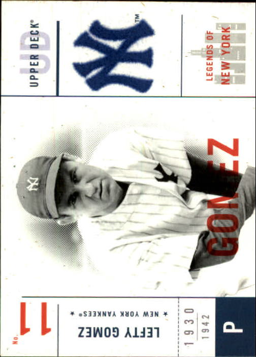 2001 Upper Deck Legends of NY #109 Lefty Gomez