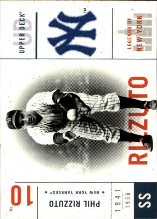 2001 Upper Deck Legends of NY #110 Phil Rizzuto