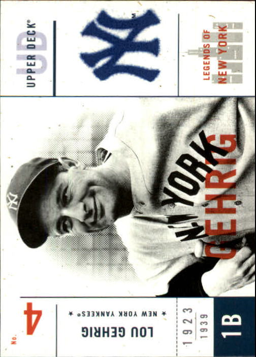 2001 Upper Deck Legends of NY #111 Lou Gehrig